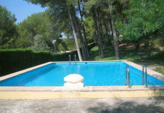 piscina con depuradora