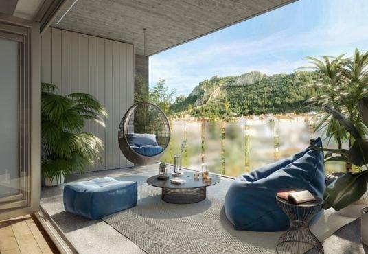 """Alt: """"terraza con modular acabado especial"""""""