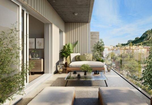"""Alt: """" terrazas en todas las viviendas"""""""