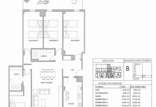 piso cuatro dormitorios terraza y patio