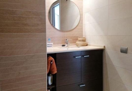 Mueble lavabo wengué